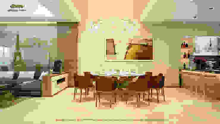 Phòng ăn: hiện đại  by Công ty TNHH Thiết kế và Ứng dụng QBEST, Hiện đại