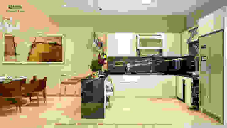 Khu bếp: hiện đại  by Công ty TNHH Thiết kế và Ứng dụng QBEST, Hiện đại