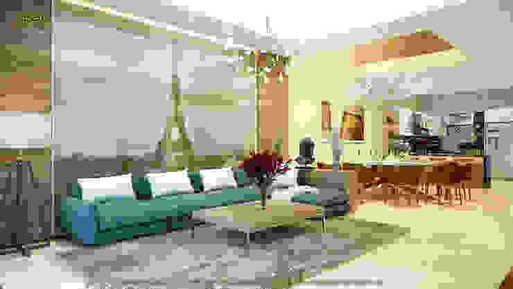 Phòng khác (Phương án 2): hiện đại  by Công ty TNHH Thiết kế và Ứng dụng QBEST, Hiện đại