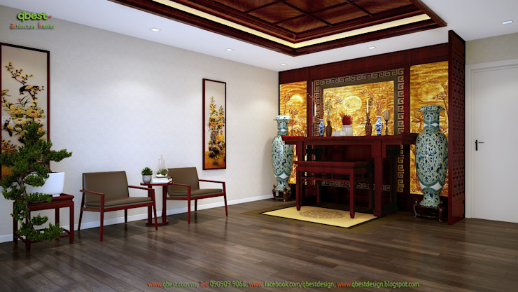 Phòng thờ gia đình: hiện đại  by Công ty TNHH Thiết kế và Ứng dụng QBEST, Hiện đại