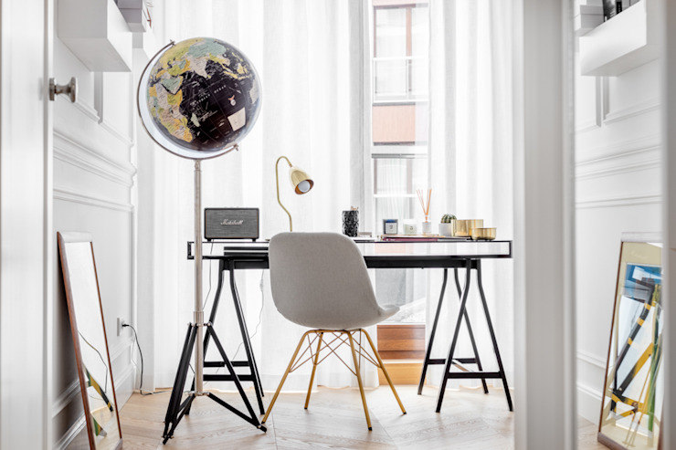 Study/office by Ayuko Studio , Scandinavian