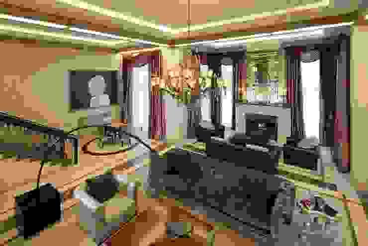 Living room by Архитектурное бюро 'Дом-А', Classic