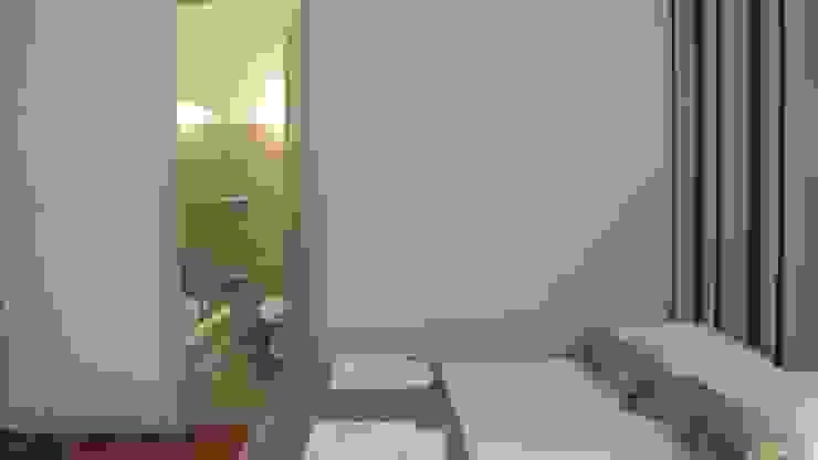 AMBIENTACION Y EQUIPAMIENTO DE UN DEPARTAMENTO PARA ALQUILER TEMPORARIO Dormitorios modernos: Ideas, imágenes y decoración de ARQUITECTA MORIELLO Moderno