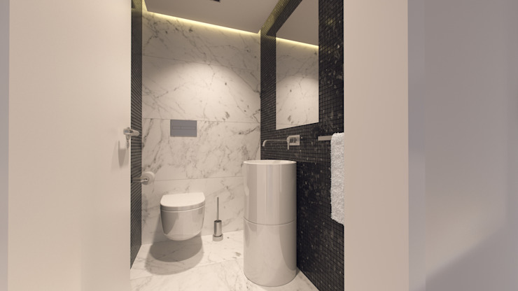 Baños de estilo minimalista de Catarina Semião Minimalista