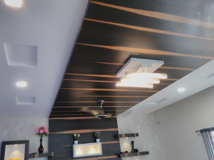 False Ceiling Asian style walls & floors by Chavadi Interiors Asian