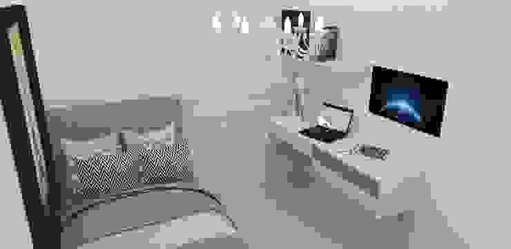 Habitación Elegante : Habitaciones de estilo  por Naromi  Design ,