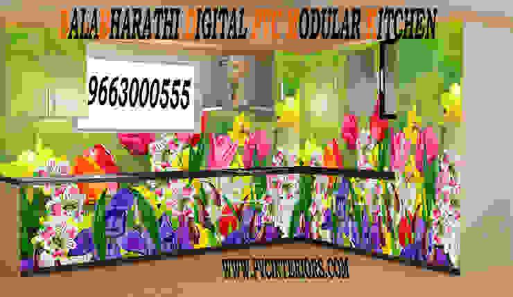 por balabharathi pvc interior design Moderno Compósito de madeira e plástico