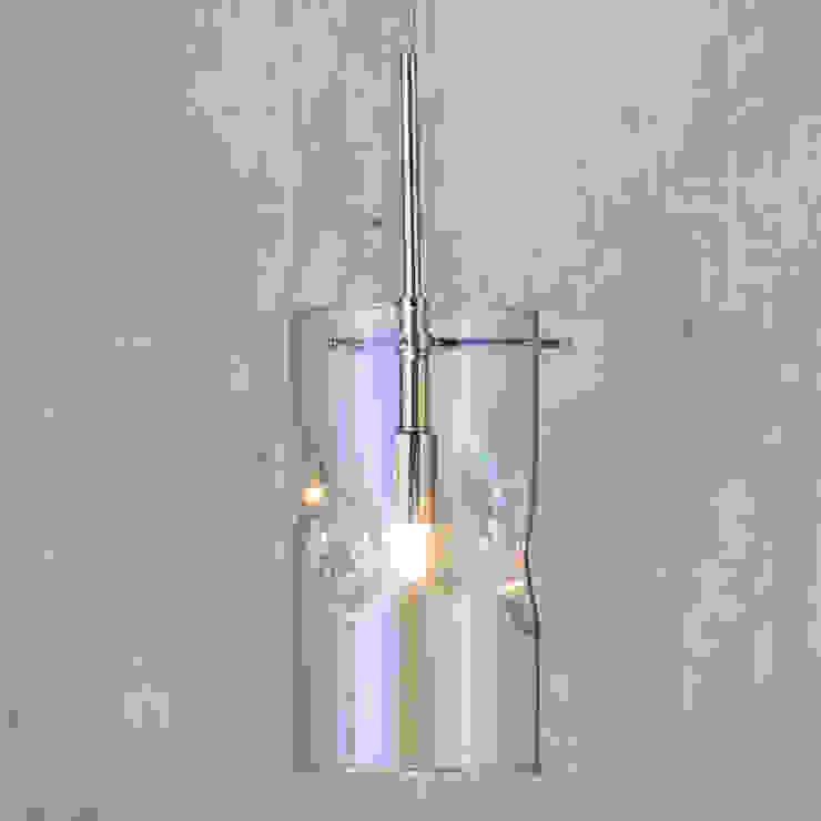 Monet 1 Light Petroleum Tinted Glass Ceiling Pendant - Chrome Litecraft SoggiornoIlluminazione Vetro