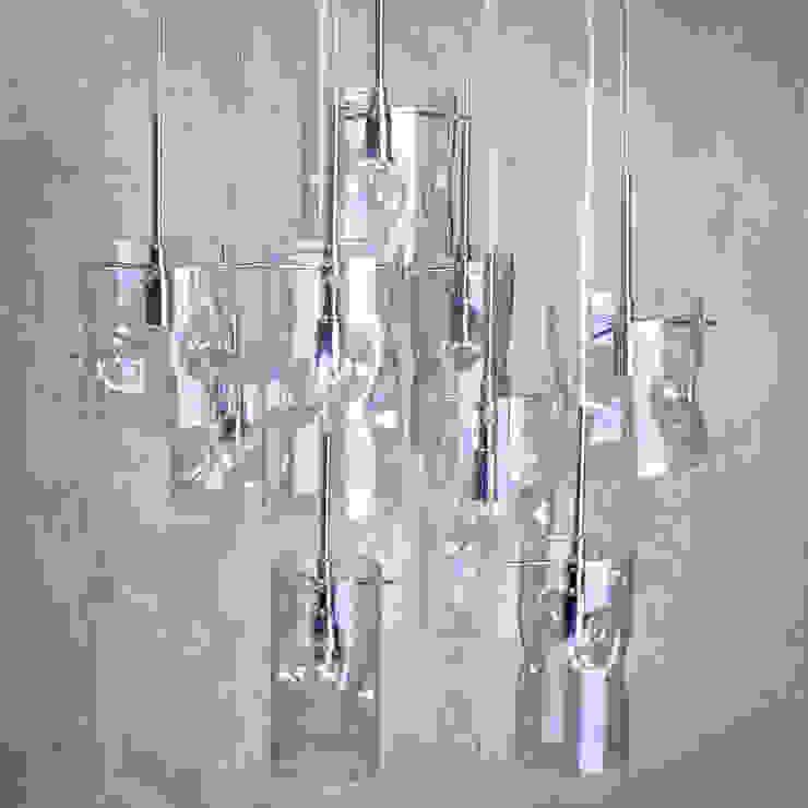 Monet 9 Light Petroleum Tinted Glass Ceiling Pendant Litecraft SoggiornoIlluminazione Vetro
