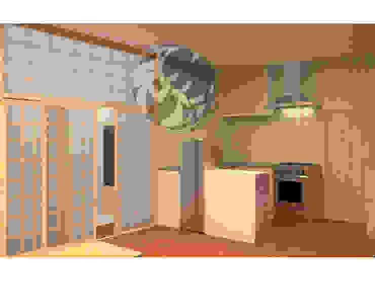 ออกแบบ 3d ห้อง condo ให้ลูกค้า style Oriental โดย mayartstyle เอเชียน ไม้ Wood effect