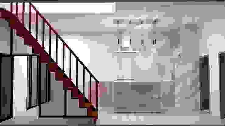 ออกแบบ 3d ห้องครัวไอแลนด์ โดย mayartstyle โมเดิร์น แผ่น MDF