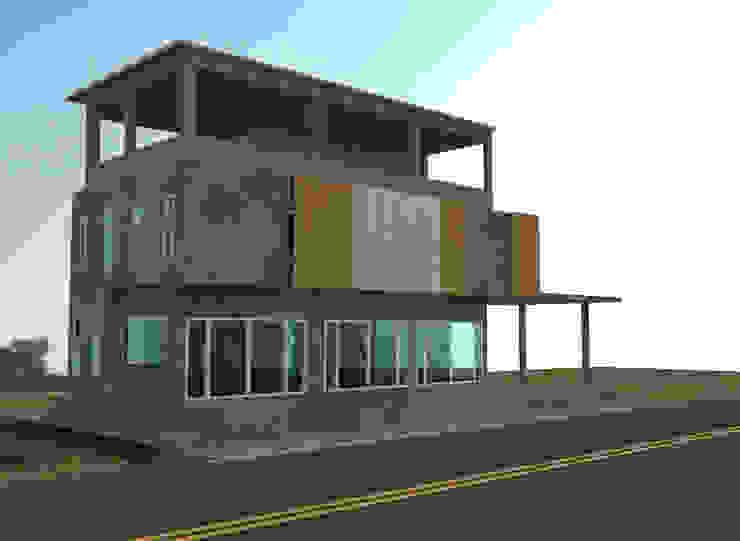 ออกแบบ 3d บ้าน 3 ชั้นให้ลูกค้า style ioft โดย mayartstyle คันทรี่ คอนกรีตเสริมแรง