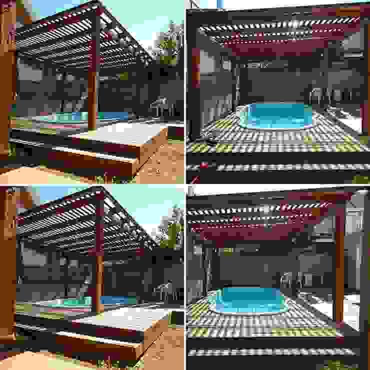pergola piscina San Cristobal hnos constructora Piscinas de estilo clásico