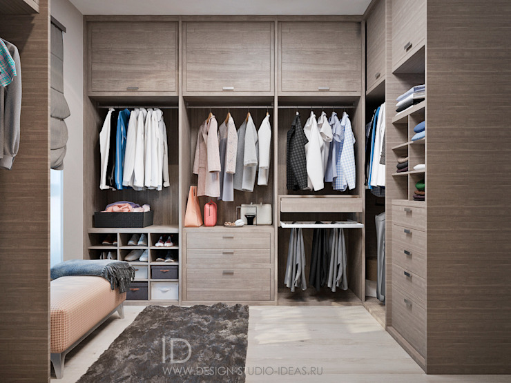 Industrial style dressing room by Студия дизайна Interior Design IDEAS Industrial