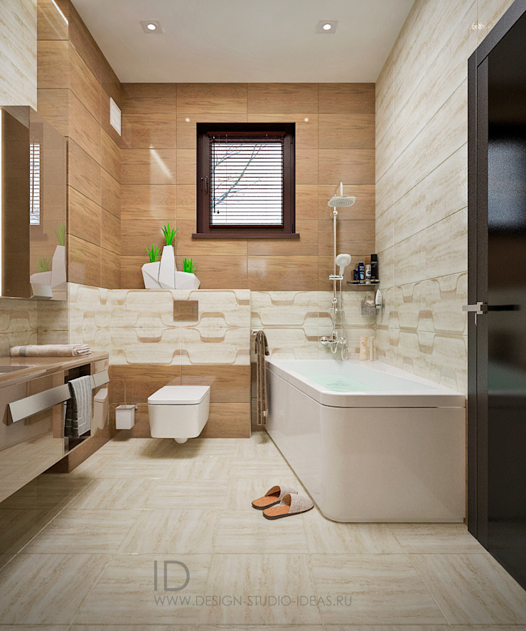 Студия дизайна ROMANIUK DESIGN Industrial style bathroom
