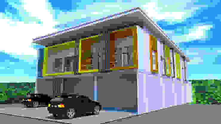 ออกแบบ 3d อาคารพานิชย์ 2ชั้น โดย mayartstyle โมเดิร์น หินปูน