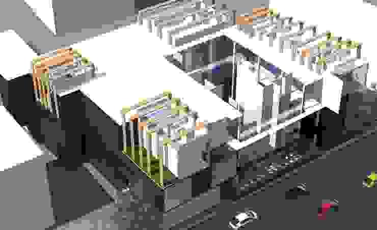 ออกแบบ 3d อาคารพานิชย์ 2ชั้น style modern โดย mayartstyle โมเดิร์น หินปูน