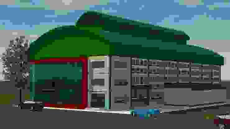 ออกแบบ 3d Fitness warehouse ให้ลูกค้า โดย mayartstyle โมเดิร์น เหล็ก