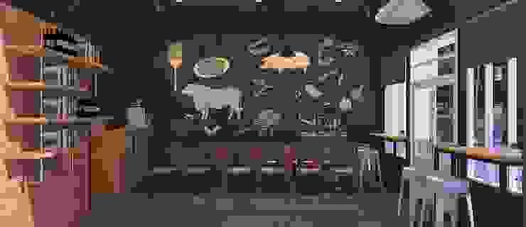 Steakhouse Design / รับออกแบบร้าน Steak: ทันสมัย  โดย DesignOne Bkk, โมเดิร์น