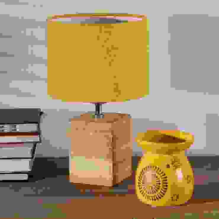 Tischlampe Lanciano:   von Dekoria GmbH,Klassisch Holz Holznachbildung