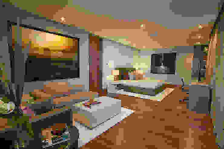RECAMARA PRINCIPAL Dormitorios modernos de Rousseau Arquitectos Moderno