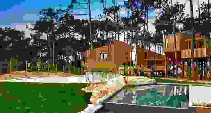 ECO SURF RESORT Hotéis modernos por Hartcasa - Gabinete Técnicos de Projectos Hernani Santos Moderno