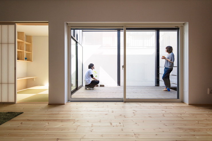 五藤久佳デザインオフィス有限会社 Eclectic style living room