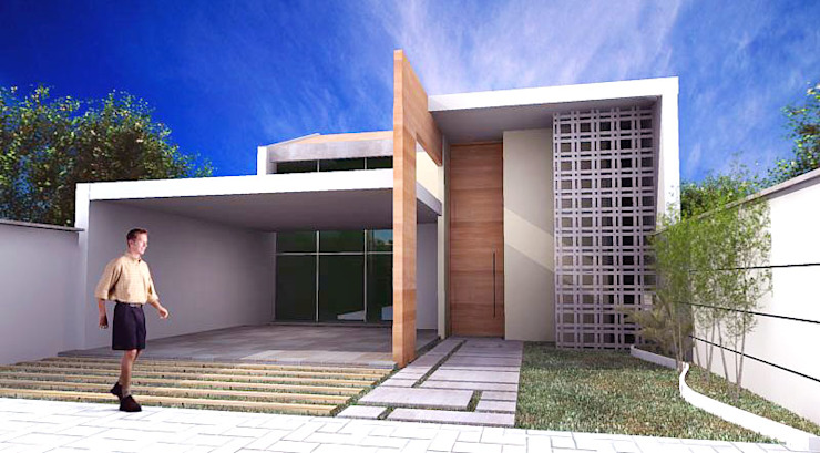Casas de estilo  por Sergio Matos Arquitetura