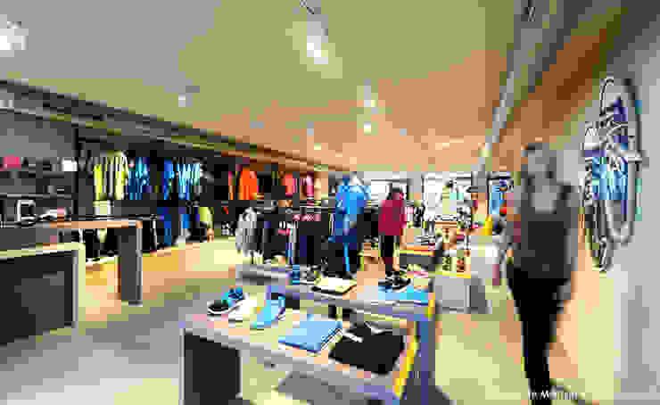 Motion 3 sportwinkel Industriële kantoor- & winkelruimten van design iD Industrieel MDF