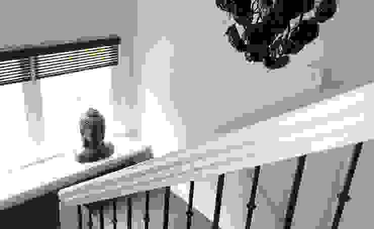 Woonhuis het Gooi Landelijke gangen, hallen & trappenhuizen van design iD Landelijk