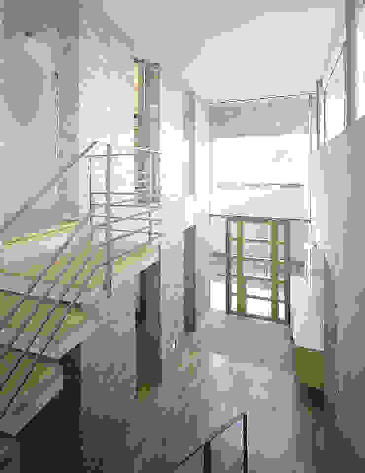 吉野町の住宅 アトリエ環 建築設計事務所 モダンスタイルの 玄関&廊下&階段