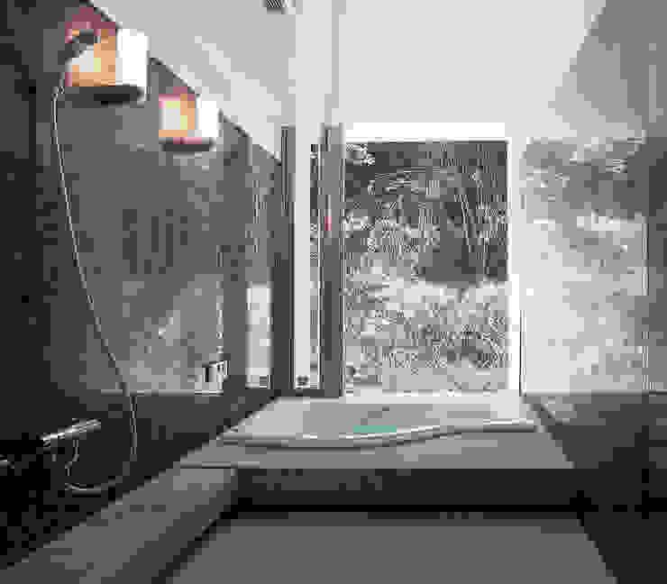 長田町の住宅 モダンスタイルの お風呂 の アトリエ環 建築設計事務所 モダン