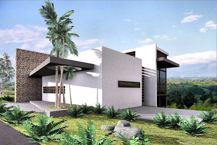 CASA 11 Casas modernas de Elite Arquitectura y Asoc. SAS. Moderno Ladrillos