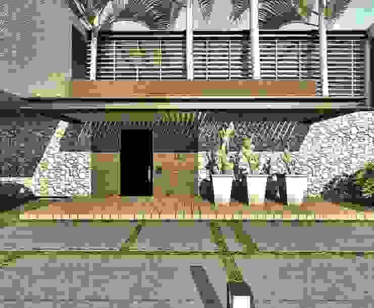 CASA H-9 Casas de estilo minimalista de Elite Arquitectura y Asoc. SAS. Minimalista Ladrillos