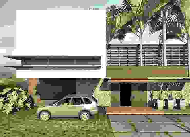 CASA H-9: Casas de estilo  por Elite Arquitectura y Asoc. SAS., Moderno Ladrillos