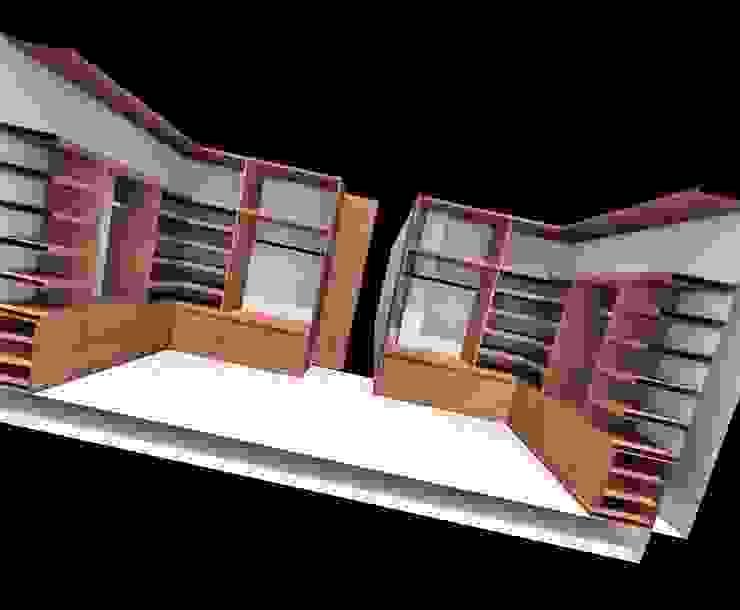 CASA H-9 Casas modernas de Elite Arquitectura y Asoc. SAS. Moderno Ladrillos
