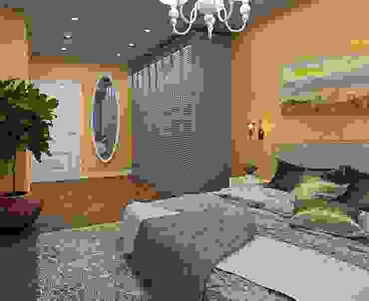 ДизайнМастер Eclectic style bedroom Yellow