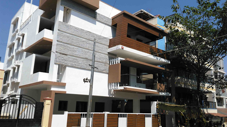 Existing exterior photo-2 Modern houses by SAHHA architecture & interiors Modern