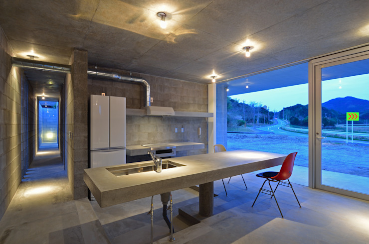 アトリエ環 建築設計事務所 現代廚房設計點子、靈感&圖片