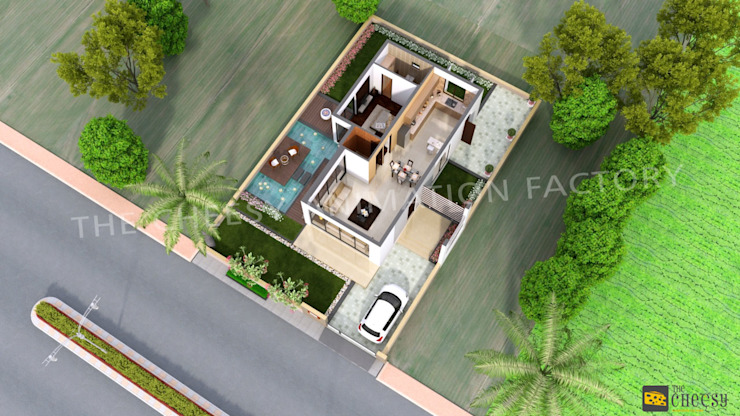 Architectural 3D Floor Plan od The Cheesy Animation Azjatycki
