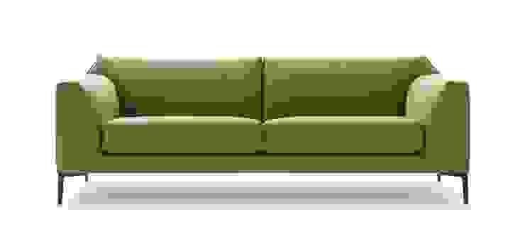 Fold, 2,5-zitsbank, design: Roderick Vos: modern  door Pode, Modern Textiel Amber / Goud