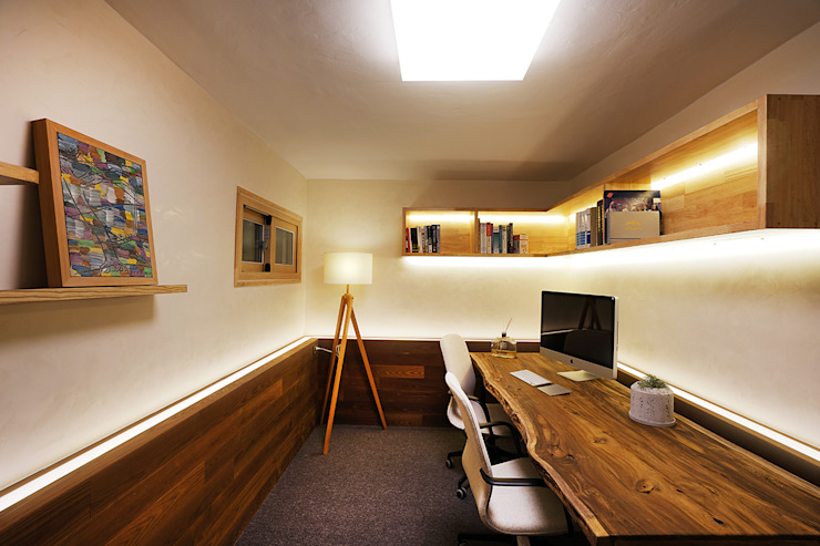 평창동 단독주택 지하실 인테리어 모던스타일 미디어 룸 by MARIO PICHI 모던