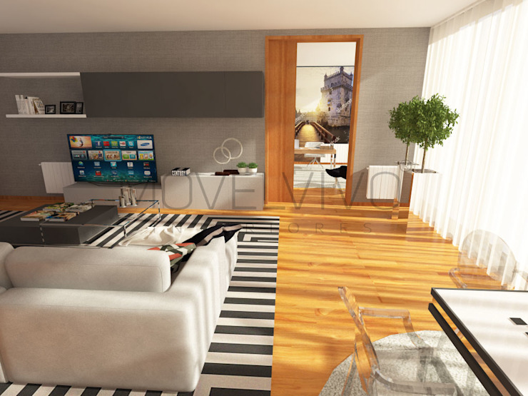 3D Living Room Modern Living Room by Movelvivo Interiores Modern