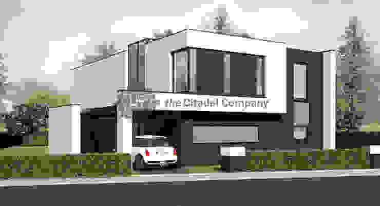 Moderne kubistische vrijstaande woning Landelijke huizen van Architectenbureau The Citadel Company Landelijk