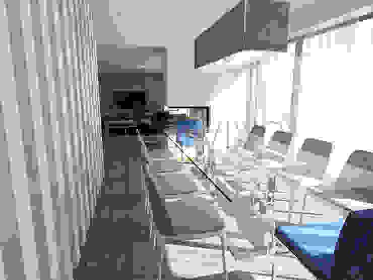 Private Dining Room Minimalist dining room by Movelvivo Interiores Minimalist