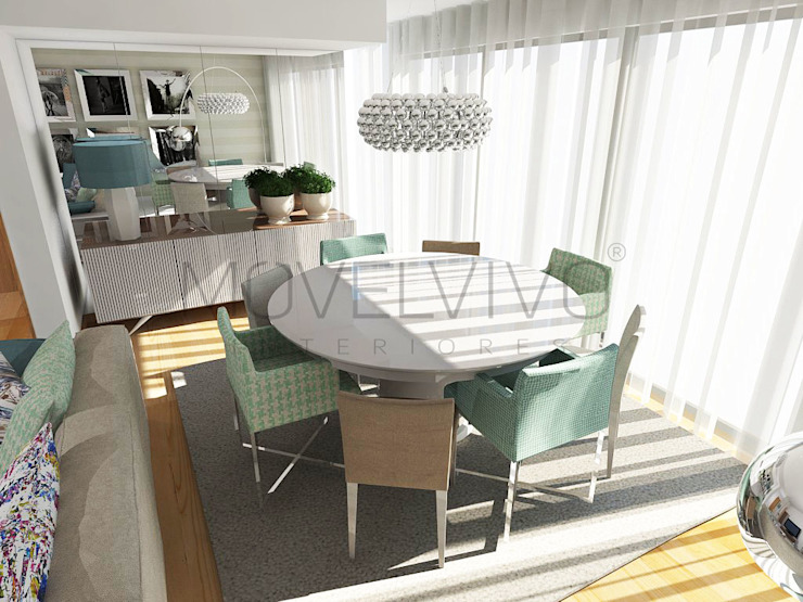 Small Dining Room Minimalist dining room by Movelvivo Interiores Minimalist