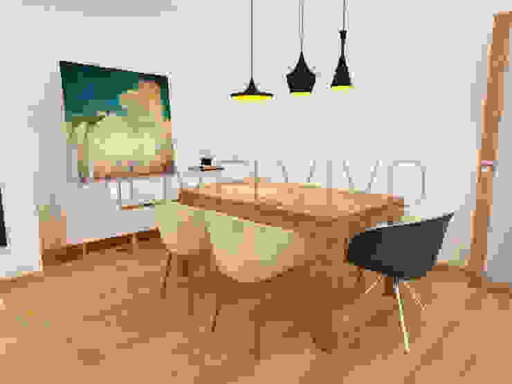 Cosy Dining Room Minimalist dining room by Movelvivo Interiores Minimalist