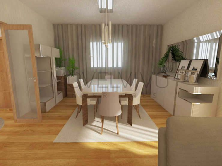 Traditional Dining Room Minimalist dining room by Movelvivo Interiores Minimalist