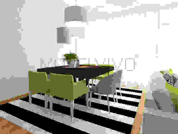 Colourful Dining Room Minimalist dining room by Movelvivo Interiores Minimalist