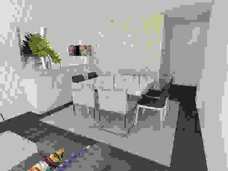 Simplistic Dining Room Minimalist dining room by Movelvivo Interiores Minimalist